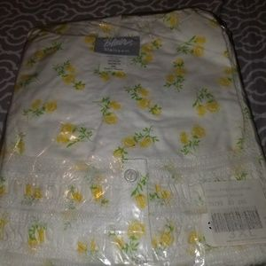 3x yellow and white flowers gown, nwt